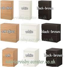 Kullen Dresser 3 Drawer by Ikea Kullen Chest Of Drawers Bedroom Storage Unit White Black