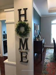 Insane Home Decor Letter H O M E Use A Wreath As The Living Room