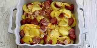 cuisiner des saucisses fum馥s gratin de pommes de terre à la saucisse fumée et reblochon facile