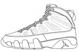 Basketball Shoes Coloring Pages Getcoloringpages Within Jordan Shoe