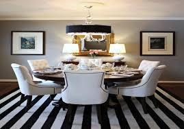 Furniture Appealing Black And White Round Dining Room Table Also