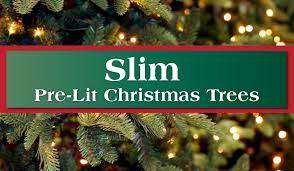Pre Lit Pencil Slim Christmas Trees by Slim U0026 Pencil Pre Lit Artificial Christmas Trees Long Island