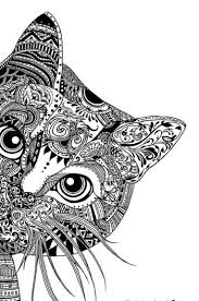 Make An Animal Black And White Zentangle Coloring Page Sheet