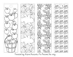 Free Fall Coloring Bookmarks