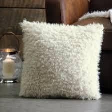 housse de coussin imitation fourrure de mouton