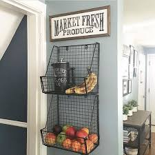 Love These Wire Wall Baskets For Displaying Fresh Fruits And Veggies