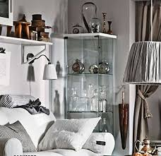 amazon com ikea detolf glass curio display cabinet white