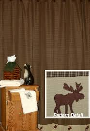 Rustic Shower Curtains Moose Trail Cabin Place