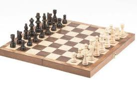 Top Quality 15 Inch Wooden Travel Chess Set Classic Game With Folding Board New