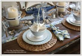 Beach Decor Nautical Dining Room Table Setting From My Front Porch To Yours