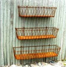 Rustic Tin Bottom Wrought Iron Window Boxes