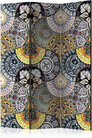 murando raumteiler pinnwand foto paravent mandala ornament 135x172 cm beidseitig auf vlies leinwand bedruckt trennwand spanische wand