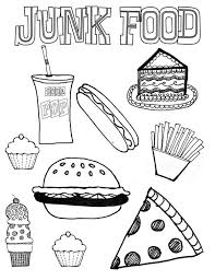 Food Nutrition Coloring Pages