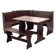 3 Piece Nook Dining Set Wood Espresso