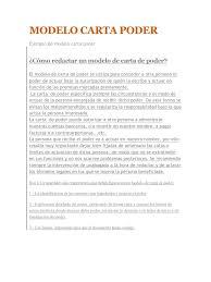Carta Poder Traspaso Vehiculo Panorama Registral Cancelación De