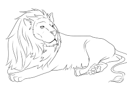 African Lion Coloring Page Inside Pages Of Lions Best