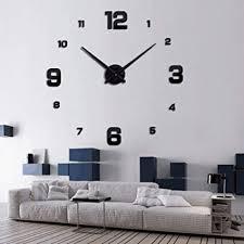 gold kdjami diy 3d wanduhr aufkleber home office wohnzimmer