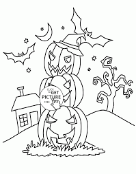 Halloween Pumpkins Coloring Pages For Kids Printables Free