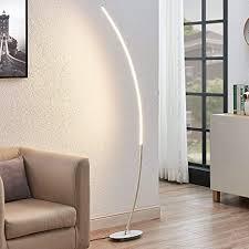 lindby led stehle bogenleuchte nalevi modern in alu aus metall ua für wohnzimmer esszimmer 1 flammig a inkl leuchtmittel