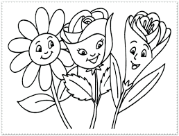 Terrific Spring Flower Coloring Pages Flowers Page And Free Printable Pictures Printables SMLF Wonderful