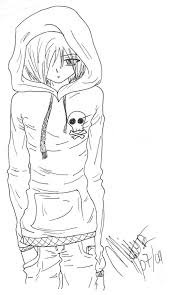 Enjoyable Design Anime Guy Coloring Pages 17 Best Images About Emo Xoxo On Love