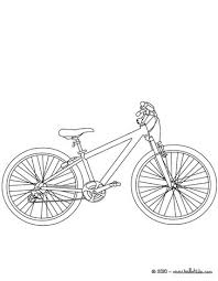 Mountain Bike Colouring Picture Coloring Page