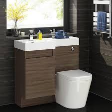 L Shaped Bathroom Vanity Unit by 900mm Walnut L Shape Bathroom Vanity Unit With Basin U0026 Toilet Ebay