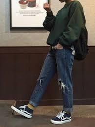 Mom Jeans Boyfriend Blue Denim Cute 90s Style