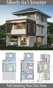 100 House Design Project Home Design Plan 6x13m With 5 Bedrooms Duplex House Design
