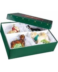 Old World Christmas Tree Ornament Storage Box Container Fits 3 Or 4 Ornaments