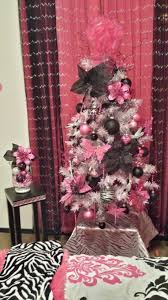 Pinkblack And White 4 Ft Christmas Tree I Did For 2013