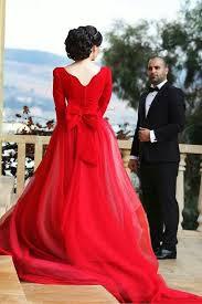 Red Vintage Wedding Dress