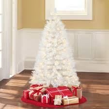 4 Ft Pre Lit Christmas Tree by Holiday Time Pre Lit 4 U0027 Indiana Spruce White Artificial Christmas