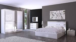 chambre a coucher blanc design chambre beautiful chambre a coucher avec papier peint high