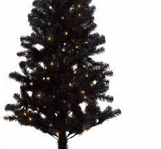 Pre Lit Slim Christmas Tree Asda by 6ft Black Pre Lit Christmas Tree Chic Design Black Pre Lit