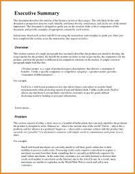 Example Executive Summary How To Write An For A Resume