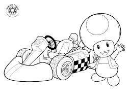 Coloriage Toad Mario Kart à Imprimer