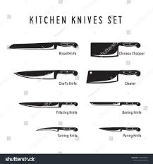 Kitchen Knives Names Suchen Sie Nach Kitchen Knives Monochrome Set Chefs