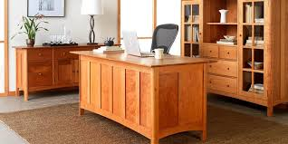 Natural Cherry Wood Nice Office Desk 6