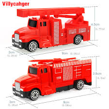100 Mini Fire Truck Diecast Alloy Construction Vehicle Engineering Car Alloy Water