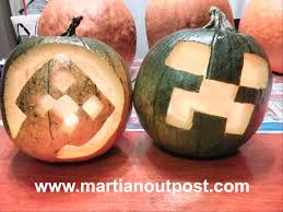 Minecraft Halloween Stencils by Minecraft Halloween Creeper Pumpkins Final Results Martian Outpost