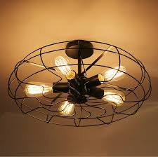 vintage industrial fan ceiling lights american country kitchen