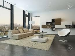 moderne wohnzimmer innenraum mit design möbeln