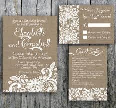 Burlap And Lace Wedding Invitation 2344970