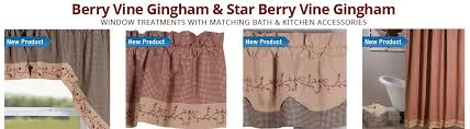 Burgundy Star Bathroom Accessories by Primitive Home Decor Country Curtains Braided Rugs Bedding And