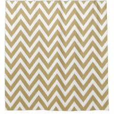 Gold And White Chevron Curtains by Gold Chevron Shower Curtains Zazzle