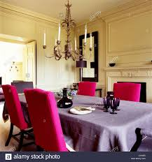 Ornate Chandelier In Dining Room With Bright Pink ... Oxford Velvet Side Chair Pink Set Of 2 Us 353 17 Off1 Set Vintage Table Chairs For Dolls Fniture Ding Sets Toys Girl Kid Dollin Accsories From Glass Pressed Argos Green Dressing Raymour Exciting Navy Blue Pating Dark Stock Photo Edit Now Settee Near Black At In Flat Zuo Modern Merritt 1080 Living Room Ideas Designs Trends Pictures And Inspiration Shabby Chic White Extendable Ding Table With 6 Pink Floral Chairs In Middleton West Yorkshire Gumtree Painted Metro Room 4pcs Stretch Covers Seat Protector