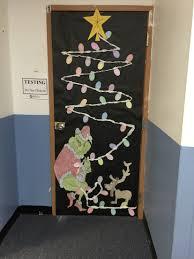 Kindergarten Christmas Door Decorating Contest by How The Grinch Stole Christmas Classroom Door Door Decorations