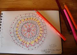 I Used My Favorite Colored Pencils Farb Riesen Color Giants By Lyra Of Germany To The Mandala Whole Process Drawing And Coloring Mandalas