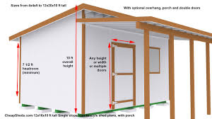 6 X 8 Gambrel Shed Plans by Lean To Style Sheds